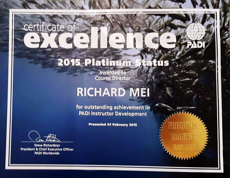 2015 Platinum Course Director Richard Mei