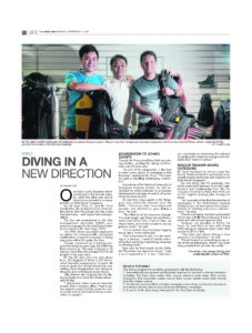 Diving in a new direction - The straits Times
