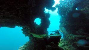 amazing-dive-maldives-dive-swim-through