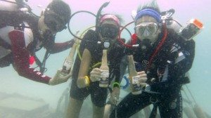 Remember! No Drinking before Diving!! Cheers!! =P