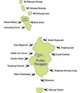 Tenggol Divesite Map