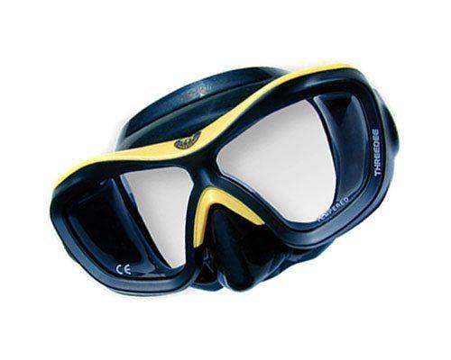 Best Scuba Mask | Poseidon Mask 3D Black Yellow