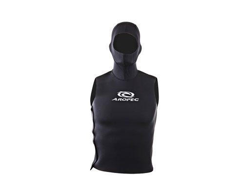 Aropec Men's 2mm NeoSkin Hooded Vest with side velcro