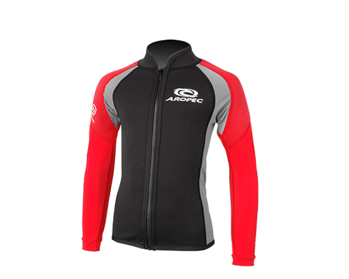Aropec Swimming Jacket 1mm NSI Titanium Neoprene/Lycra Swim Jacket