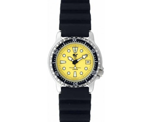 Poseidon Mens Scuba Watch Yellow | Best Dive Watch | Best Dive Computer