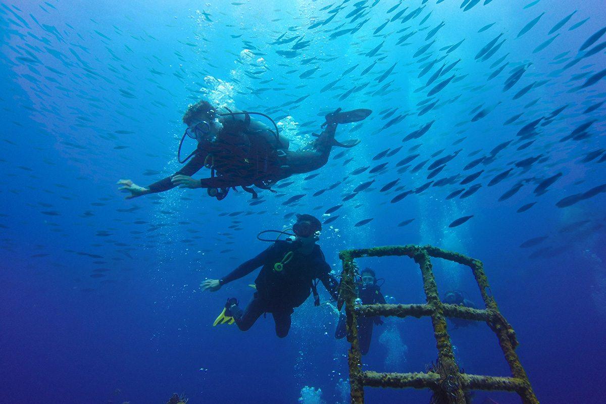 Divers at Tulamben Pebble & Fins Bali