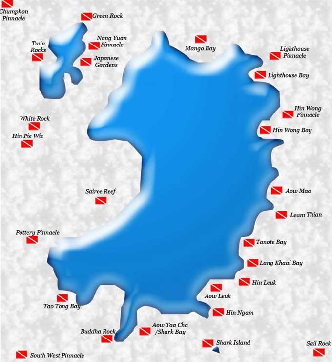 Koh tao that scuba shop - Koh tao dive sites ...