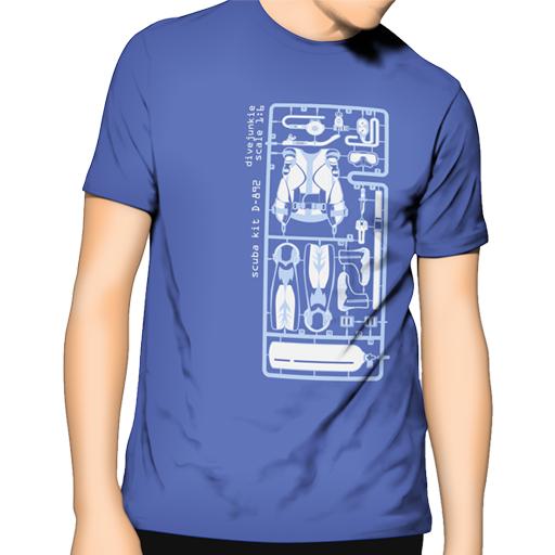 Scuba kit blue Man