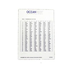 Ocean Reef MRT - Modified Rhyme Text table with Pencil