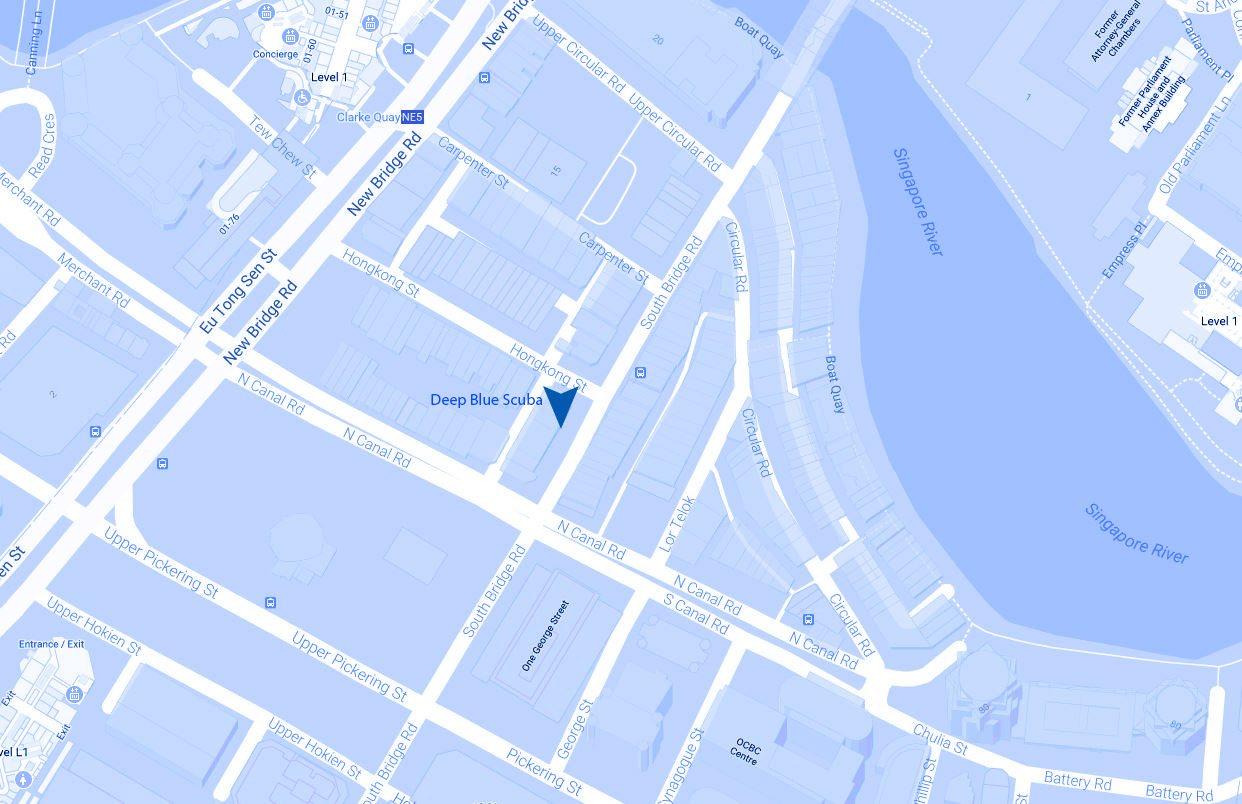 Deep Blue Scuba Location Map