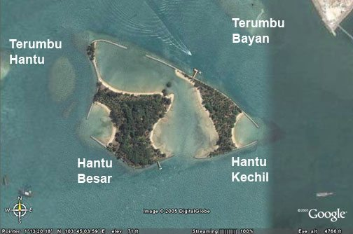 Hantu Map | Deep Blue Scuba | Diving Trips