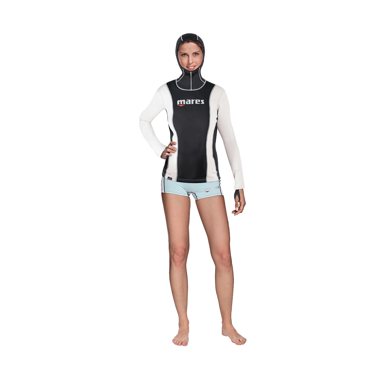 Mares Fire Skin Long Sleeve With Hood She Dives | Mares Rashguards | Mares Singapore