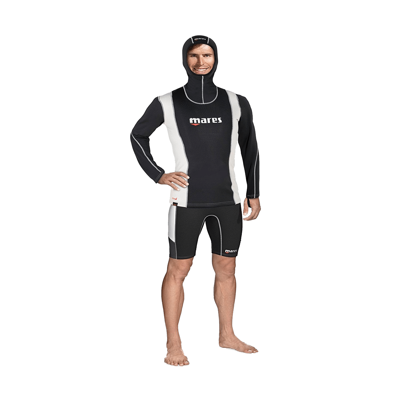 Mares Fire Skin Long Sleeve With Hood | Mares Rashguards | Mares Singapore